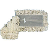 "36"" x 5"" Disposable Cotton/Synthetic Dust Mop Head W/ Sewn Center Fringe, White - BWK1636"