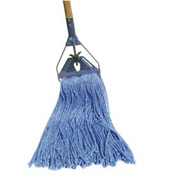 16 Oz. Standard Cut-End Cotton/Synthetic Fiber Wet Mop, Blue 12/Pack - BWK2020B