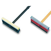 "Unisan General-Duty Squeegee, 8"" Sponge Head/Rubber Blade, 21"" Metal Handle - BWK824"
