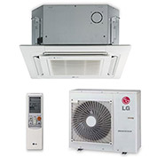 LG Single Zone Inverter Heat Pump System LC187HV, Ceiling Cassette (18K BTU)