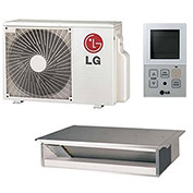 LG Single Zone Inverter Heat Pump System LH247HV, High Static Ducteded (24K BTU)