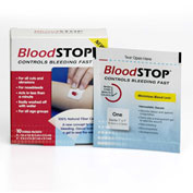 BloodSTOP BS-MP18 Hemostatic Matrix For Dialysis, Minor IV Puncture 2cm x 2cm, 80/per box