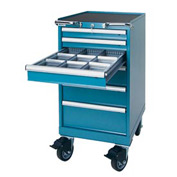 "Lista® 6 Drawer 18""W Mobile Cabinet - Classic Blue"