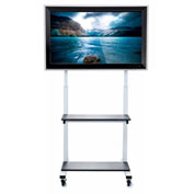 "Crank Adjustable Flat Panel TV Cart, for 32"" to 80"" LCD Monitors"