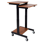 Luxor® Adjustable Height Presentation Workstation - Teak