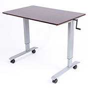 "Luxor Standup Adjustable Height Workstation Desk 47-1/4""L x 29-1/2""W x 29"" - 42""-3/4 H"