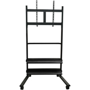Luxor Mobile Flat Panel Stand w/ 2 Shelves