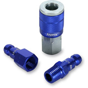 "Legacy™ Colorconnex® Type C Blue Coupler & Plug Kit, 1/4"", 3Pc"