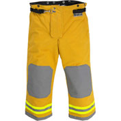 "Lakeland AT2302Y OSX Attack™ Fire Protective Turnout Gear Pants 46""-30"", Yellow"