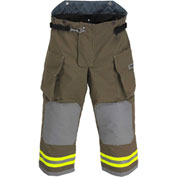"Lakeland BA2305K OSX B1™ Battalion Fire Protective Turnout Gear Pants 42""-30"", Khaki"