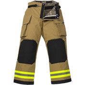 "Lakeland BP2305G OSX B2™ Battalion Fire Protective Pleated Turnout Gear Pants 44""-30"", Gold"