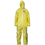ChemMax1 Coverall, Attached Hood, Elastic Wrists & Ankles, 3XL, 25/Case, Lakeland, C55428-3X