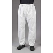 Lakeland CTL301 Micromax® NS Disposable Pants 5XL, White, Elastic Waist, 50/Case