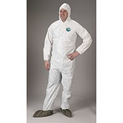 Lakeland CTL414 Micromax® NS Disposable Coverall MD, White, Hood, Elastic Wrists/Boots, 25/Case