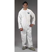 Lakeland CTL426 Micromax® NS Disposable Coverall 5X, White, Elastic Wrists, Boots