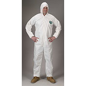 Lakeland CTL428 Micromax® NS Disposable Coverall 5X, White, Hood, Elastic Wrists & Ankles
