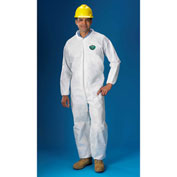 Lakeland E8417 SafeGard® SMS Disposable Coverall LG, White, Elastic Wrists/Ankles, 25/Case