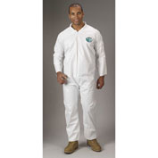 Lakeland TG412 Micromax®  Disposable Coverall LG, White, Zipper, 25/Case
