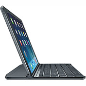 Logitech® Ultrathin Magnetic Clip-On Keyboard Cover for iPad Air, Space Gray