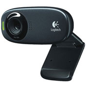 Logitech HD Webcam, 960000585, W/Microphone, 5.0MP Photos, Black
