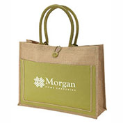 KT0703 - Imprinted Natural Jute Tote