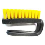 "LPD Trade ESD 3"" Curved Handle Brush with Conductive Bristles, Black/Yellow - Y4000"