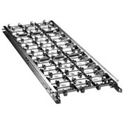 "Ashland 5' Straight Galvanized Steel Skatewheel Conveyor 15X10X05G - 15"" OAW - 10 WPF"