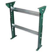"H-Stand Support H15M37B28 for Ashland 30"" OAW Skatewheel Conveyor - Adj. 31"" to 43""H"