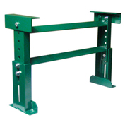 "H-Stand Support H50M22B21 for Ashland 21"" BF Roller Conveyors - Adj. 17"" to 27-1/4""H"