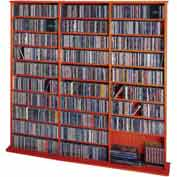 Open Wall Multimedia Storage Rack Cherry, 1500 CDs/612 DVDs