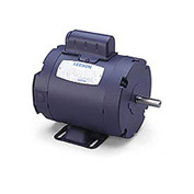 Leeson Motors-1/4HP, 115/208-230V, 3450RPM, TENV, Rigid Mount, 1.0 SF, 63 Eff.