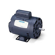 Leeson Motors-1/2HP, 115/208-230V, 3450RPM, DP, Rigid Mount, 1.25 SF, 66 Eff.