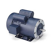 Leeson Motors-1/2HP, 115/208-230V, 1725RPM, TEFC, Rigid Mount, 1.15 SF, 66 Eff.