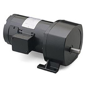 Leeson Motors Motor Gearmotor-Parallel Shaft, 42RPM, 1/4HP, TENV, 90V, DC, 353 Lb.In.