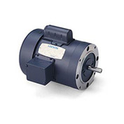 Leeson Motors-1HP, 115/208-230V, 1725RPM, TEFC, C Face Mount, 1.15 SF, 75 Eff