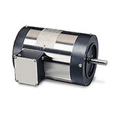 Leeson Motors Motor Washdown Motor-3/4HP, 208-230/460V, 1725RPM, TENV, C FACE, 1.15 SF