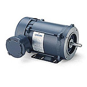 Leeson Motors - 1.5/1HP, 208-230/460V, 3450/2850RPM, EPFC, Rigid Mount, 1.0 S.F.