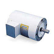 Leeson Motors Motor Washdown Motor-1/2HP, 208-230/460V, 1725/1425RPM, TEFC, ROUND, 1.15 SF, 74 Eff.