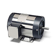 Leeson Motors Motor Washdown Motor-1HP, 208-230/460V, 1725RPM, TENV, RIGID C, 1.15 SF, 81.5 Eff.