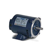 Leeson 121674.00, Premium Eff., 1 HP, 1760 RPM, 208-230/460V, 143TC, DP, C-Face Rigid