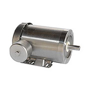 Leeson Motors Motor Washdown Motor-1.5/1HP, 208-230/460V, 3490/2890RPM, TEFC, C FACE, 1.15 SF