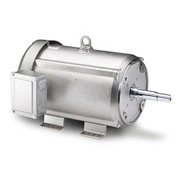 Leeson Motors Motor Washdown Motor-3HP, 208-230/460V, 1770RPM, TEFC, RIGID C, 1.15 SF, 87.5 Eff.