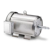 Leeson Motors Motor Washdown Motor-3HP, 208-230/460V, 1760RPM, TEFC, RIGID, 1.15 SF, 87.5 Eff.