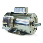 Leeson Motors Motor Washdown Motor-.75HP, 115-208/230V, 3600RPM, TEFC, RIGID C, 1.15 SF, 0 Eff.