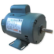 Leeson E113027.00, 1HP, 1725RPM, 56H DP 115/230V, 1PH 60HZ Cont. 40C 1.15SF, Resilient Base