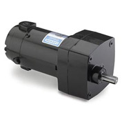 Leeson Motors Motor Gearmotor-Parallel Shaft, 150RPM, 1/17HP, TENV, 180V, DC