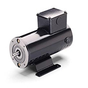 Leeson Motors Metric DC Motor-.18 KW, 24V, 3000RPM, IP54, B14