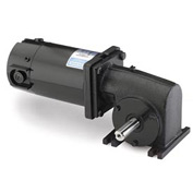 Leeson Motors Motor Gearmotor-Right-Angle Shaft, 250RPM, 1/4HP, TENV, 90V, DC, 50 Lb.In.