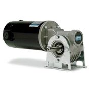Leeson Motors Gearmotor-Right-Angle Shaft, 250RPM, 1/4HP, TENV, 12V, DC
