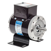 Leeson Sub-FHP Inverter Motor, 1725RPM, 1/4HP, 38, Inverter Rated, 230V, 3PH, 60HZ, TEFC
